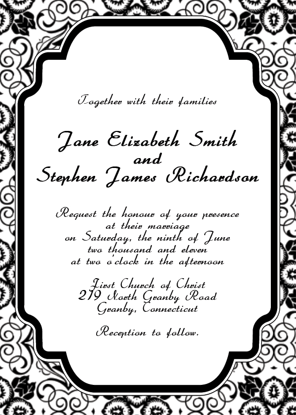 free printable wedding invitation templates hohmannnt Unique wedding p6237Akv